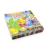 Деревянные кубики с азбукой 49 буквиц